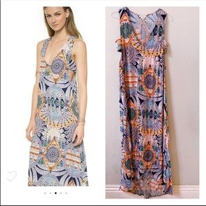 FLYNN SKYE day maxi dress Mind Blown graphic S